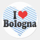 I Love Bologna Round Stickers