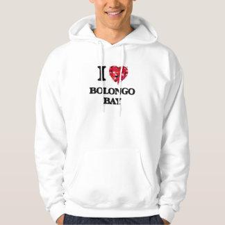 I love Bolongo Bay Virgin Islands Hooded Sweatshirt