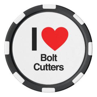 i love bolt cutters poker chip set