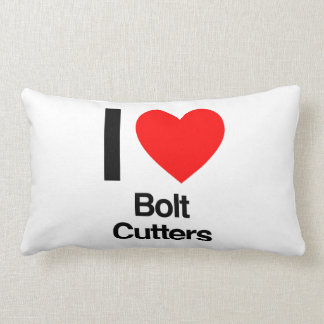 i love bolt cutters throw pillows