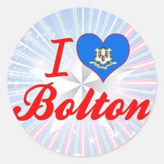 I Love Bolton, Connecticut Sticker