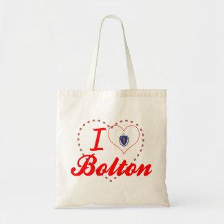 I Love Bolton, Massachusetts Tote Bags
