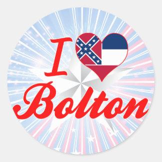 I Love Bolton, Mississippi Round Stickers