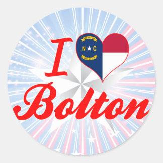 I Love Bolton, North Carolina Sticker