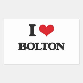 I Love Bolton Rectangular Sticker