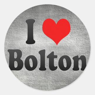 I Love Bolton, United Kingdom Round Sticker
