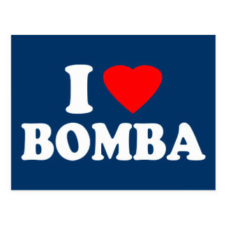 I Love Bomba Postcard