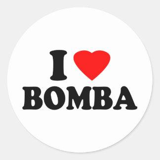 I Love Bomba Sticker