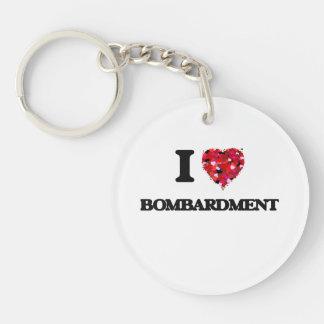 I Love Bombardment Single-Sided Round Acrylic Keychain