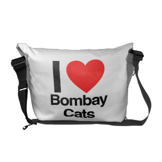 i love bombay cats messenger bags