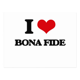 I Love Bona Fide Postcard