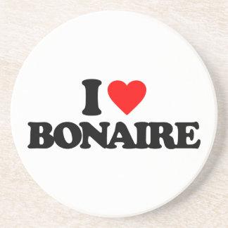 I LOVE BONAIRE BEVERAGE COASTERS