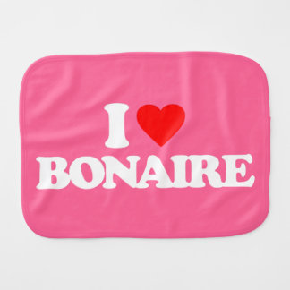 I LOVE BONAIRE BURP CLOTHS
