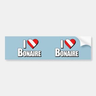 I Love Bonaire Diving Car Bumper Sticker
