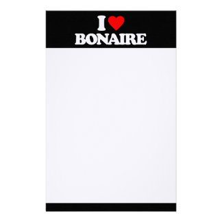 I LOVE BONAIRE PERSONALIZED STATIONERY