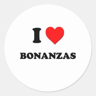 I Love Bonanzas Classic Round Sticker