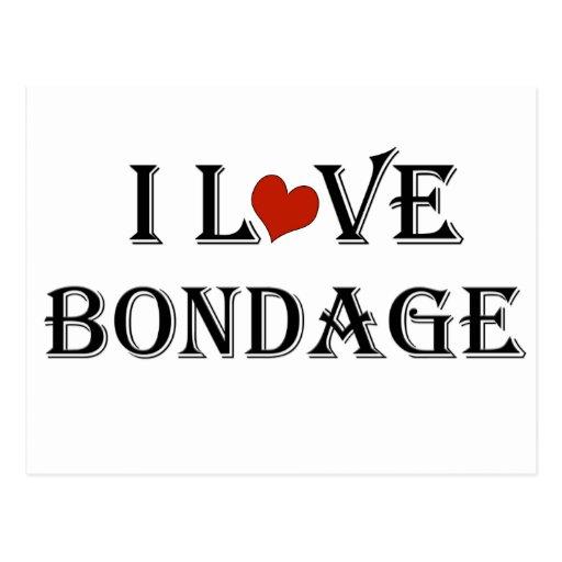 I Love Bondage a Postcard