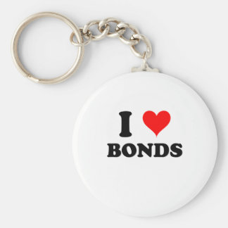 I Love Bonds Keychain
