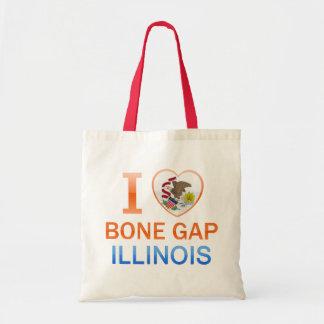 I Love Bone Gap, IL Canvas Bags