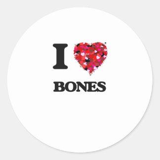 I Love Bones Classic Round Sticker