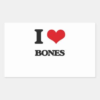 I Love Bones Rectangular Sticker