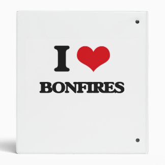 I Love Bonfires Binders