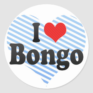 I Love Bongo Classic Round Sticker