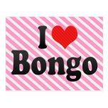 I Love Bongo Postcard