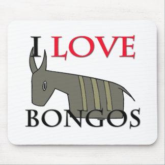 I Love Bongos Mouse Mat