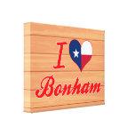 I Love Bonham, Texas Canvas Prints
