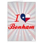 I Love Bonham, Texas Greeting Card