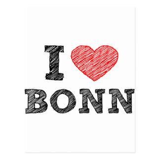 I love Bonn Postcard
