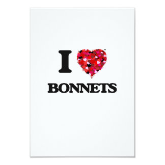 I Love Bonnets 3.5x5 Paper Invitation Card