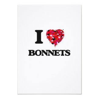 I Love Bonnets 5x7 Paper Invitation Card