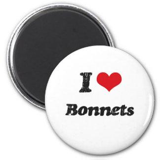 I Love BONNETS Fridge Magnets