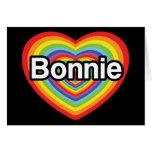 I love Bonnie: rainbow heart Card
