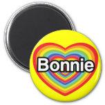 I love Bonnie: rainbow heart Fridge Magnet