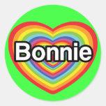 I love Bonnie: rainbow heart Stickers