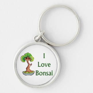 I love bonsai in green text shari tree graphi keychain