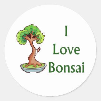 I love bonsai in green text shari tree graphi stickers