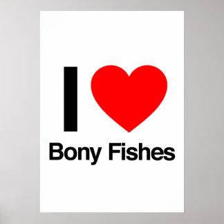 i love bony fishes posters