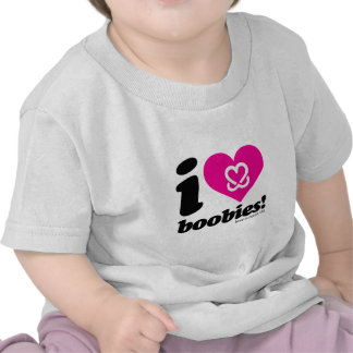 "i love boobies! ""Classic"" baby tee"