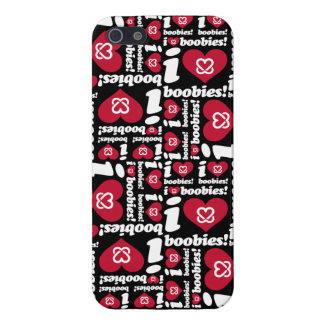 "i love boobies! ""Classic Pattern"" iPhone Case- Red Case For iPhone SE/5/5s"