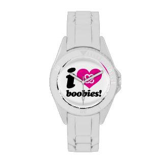 "i love boobies! ""Classic"" Watch"