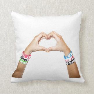 """i love boobies! """"Hand Heart"""" Pillow"""