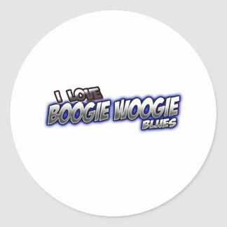 I Love Boogie Woogie BLUES music Classic Round Sticker