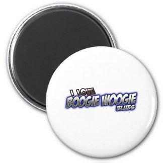 I Love Boogie Woogie BLUES music Fridge Magnets
