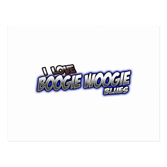 I Love Boogie Woogie BLUES music Postcard