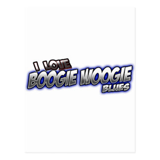 I Love Boogie Woogie BLUES music Postcard