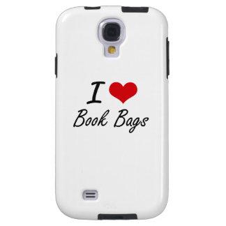 I Love Book Bags Artistic Design Galaxy S4 Case